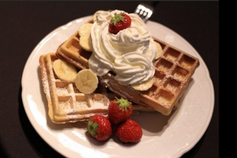 enjoy delicious belgian waffles